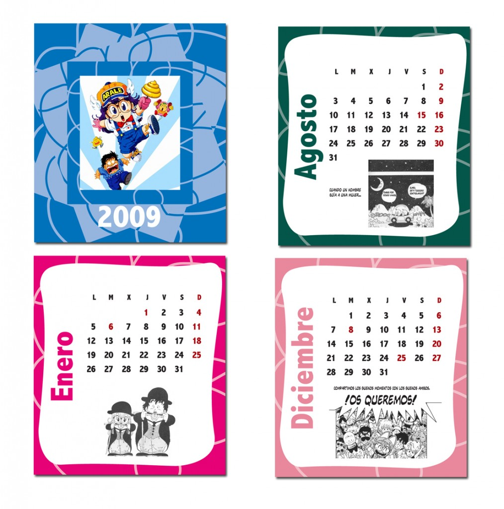 regalo calendario pared arale